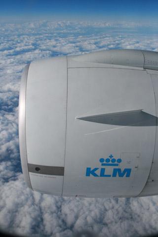 KLMオランダ航空の機上から