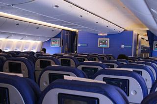 KLMオランダ航空の機内